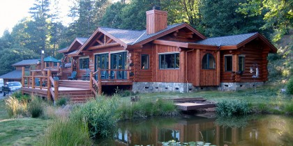 Handcrafted Log Home Refinishing Project