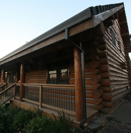 Oregon Log Home Maintenance and Porch Addition