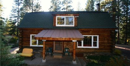 Winter Proofing Log Homes blog photo of front of log home